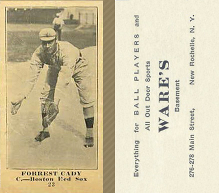 1916 Wares Forrest Cady #25 Baseball Card