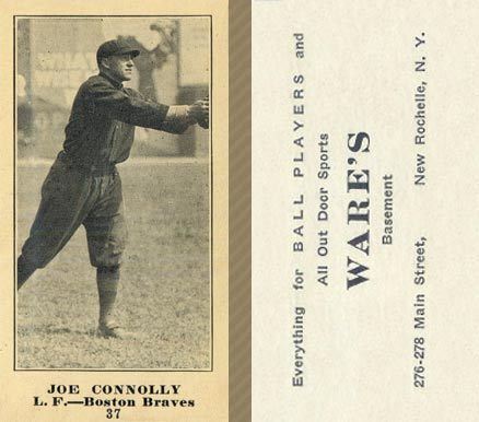 1916 Wares Joe Connolly #37 Baseball Card