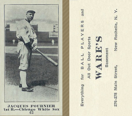 1916 Wares Jacques Fournier #62 Baseball Card