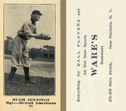 1916 Wares Hugh Jennings #90 Baseball Card