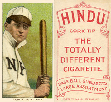 1909 White Borders (Red Hindu) Mike Donlin #133 Baseball Card