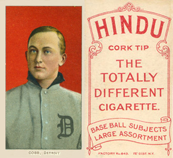 1909 White Borders (Red Hindu) Ty Cobb #96 Baseball Card