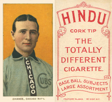 1909 White Borders (Red Hindu) Frank Chance #79 Baseball Card