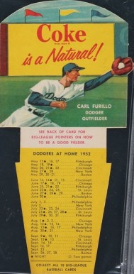 1952 Coca-Cola Playing Tips Carl Furillo #2 Baseball Card