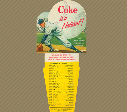 1952 Coca-Cola Playing Tips Gil McDougald #5 Baseball Card
