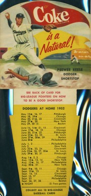 1952 Coca-Cola Playing Tips Pee Wee Reese #7 Baseball Card