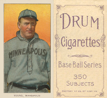 1909 White Borders (Drum 350) Irv Young #524 Baseball Card