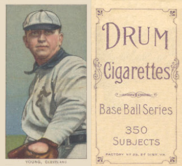 1909 White Borders (Drum 350) Cy Young #521 Baseball Card