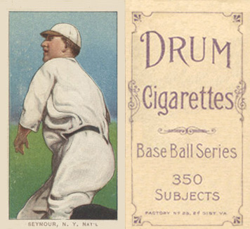 1909 White Borders (Drum 350) Cy Seymour #436 Baseball Card