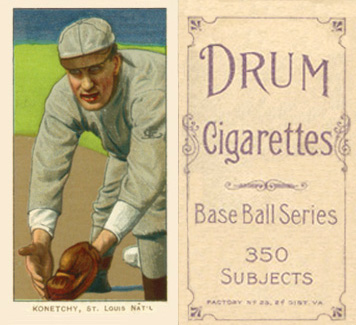 1909 White Borders (Drum 350) Ed Konetchy #263 Baseball Card