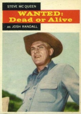 1958 TV Westerns Steve McQueen #21 Non-Sports Card
