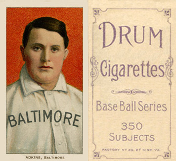 1909 White Borders (Drum 350) Doc Adkins #5 Baseball Card