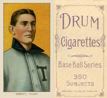 1909 White Borders (Drum 350) Fred Abbott #3 Baseball Card