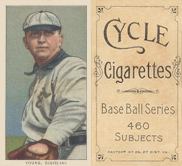 1909 White Borders (Cycle 460) Cy Young #521 Baseball Card