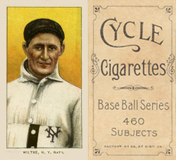 1909 White Borders (Cycle 460) Hooks Wiltse #519 Baseball Card