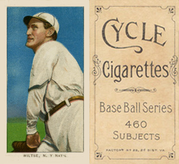 1909 White Borders (Cycle 460) Hooks Wiltse #517 Baseball Card