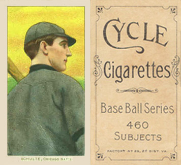 1909 White Borders Cycle 460 Schulte, Chicago Nat'L #431 Baseball Card