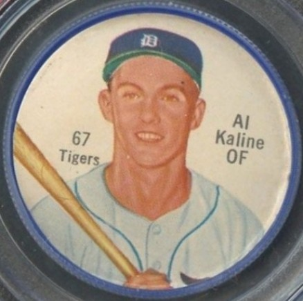 1962 Shirriff Coins Al Kaline #67 Baseball Card