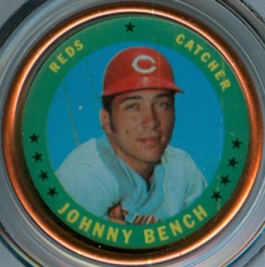 1971 Topps Coins Johnny Bench #149 Baseball Card