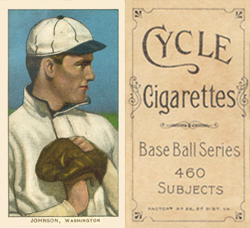1909 White Borders (Cycle 460) Walter Johnson #235 Baseball Card