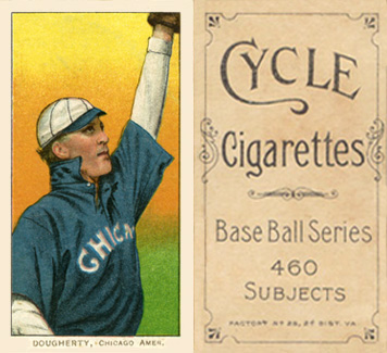1909 White Borders Cycle 460 Dougherty, Chicago Amer. #142 Baseball Card