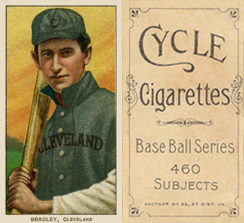 1909 White Borders Cycle 460 Bradley, Cleveland #46 Baseball Card