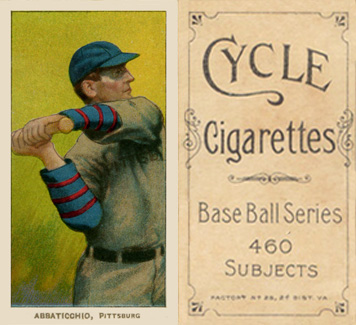 1909 White Borders (Cycle 460) Ed Abbaticchio #1 Baseball Card