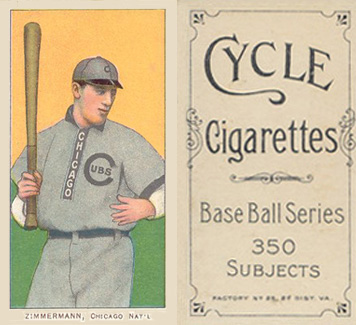 1909 White Borders (Cycle 350) Heinie Zimmerman #525 Baseball Card