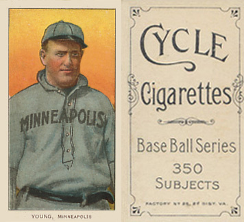 1909 White Borders (Cycle 350) Irv Young #524 Baseball Card