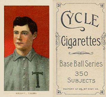 1909 White Borders (Cycle 350) Lucky Wright #520 Baseball Card