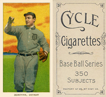 1909 White Borders Cycle 350 Donovan, Detroit #136 Baseball Card