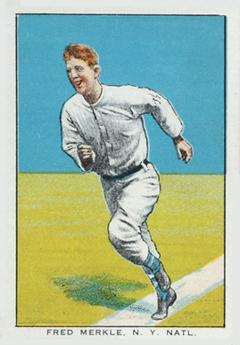 1911 Brunners Bread Fred Merkle, N.Y. Natl. #23 Baseball Card