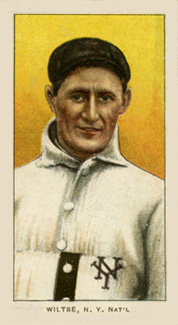 1909 White Borders (Piedmont & Sweet Caporal) Hooks Wiltse #519 Baseball Card