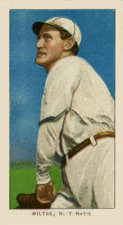 1909 White Borders (Piedmont & Sweet Caporal) Hooks Wiltse #517 Baseball Card
