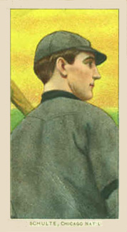 1909 White Borders Piedmont & Sweet Caporal Schulte, Chicago Nat'L #431 Baseball Card