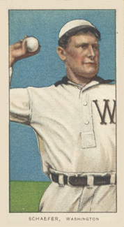 1909 White Borders (Piedmont & Sweet Caporal) Germany Schaefer #421 Baseball Card