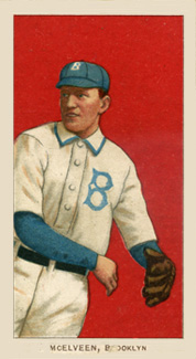 1909 White Borders (Piedmont & Sweet Caporal) Pryor McElveen #315 Baseball Card