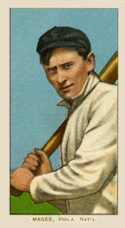 1909 White Borders (Piedmont & Sweet Caporal) Sherry Magee #297 Baseball Card