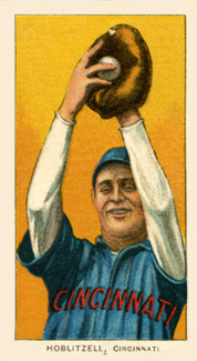 1909 White Borders (Piedmont & Sweet Caporal) Dick Hoblitzell #215 Baseball Card