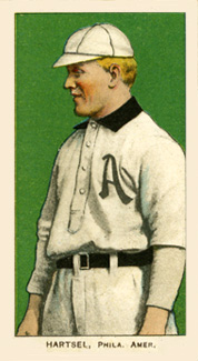 1909 White Borders (Piedmont & Sweet Caporal) Topsy Hartsel #206 Baseball Card