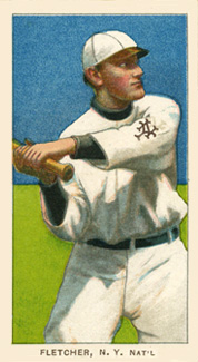 1909 White Borders Piedmont & Sweet Caporal Fletcher, N.Y. Nat'L #175 Baseball Card