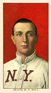 1909 White Borders (Piedmont & Sweet Caporal) Art Devlin #128 Baseball Card