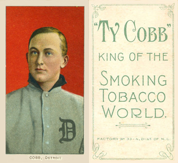 1909 White Borders (Piedmont & Sweet Caporal) Ty Cobb #97 Baseball Card