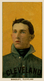 1909 White Borders (Piedmont & Sweet Caporal) Bill Bradley #45 Baseball Card