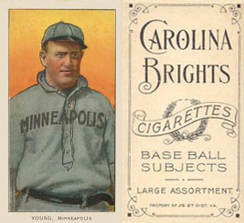1909 White Borders (Carolina Brights) Irv Young #524 Baseball Card