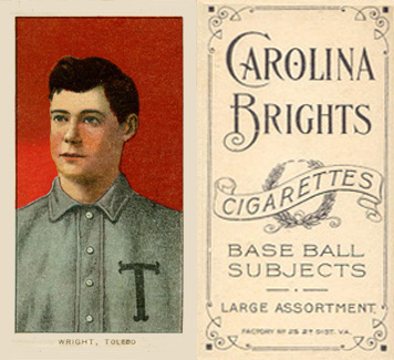1909 White Borders (Carolina Brights) Lucky Wright #520 Baseball Card