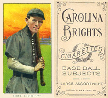 1909 White Borders (Carolina Brights) Johnny Evers #167 Baseball Card