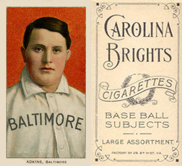 1909 White Borders (Carolina Brights) Doc Adkins #5 Baseball Card