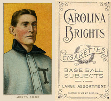 1909 White Borders (Carolina Brights) Fred Abbott #3 Baseball Card