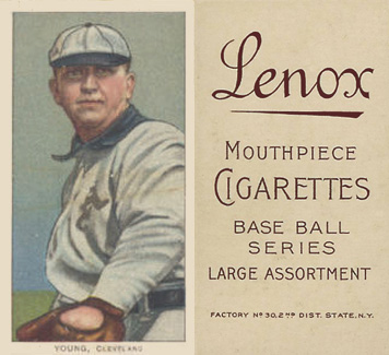 1909 White Borders (Brown Lenox) Cy Young #521 Baseball Card